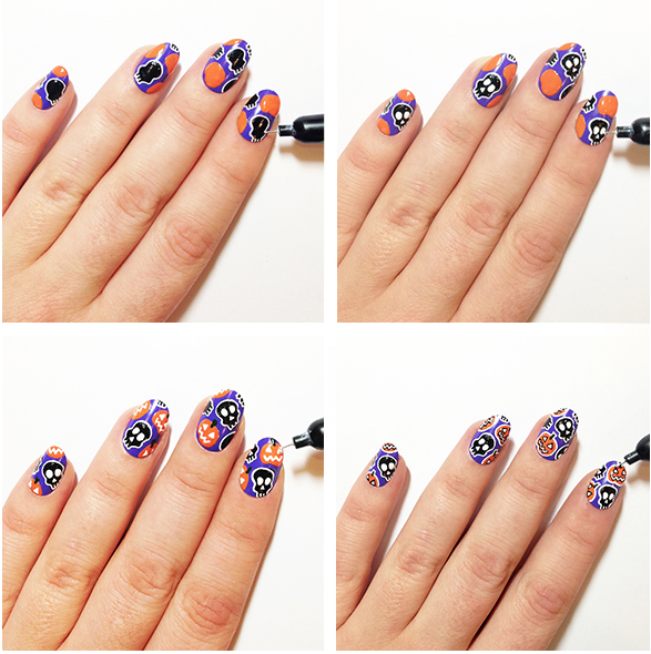 Halloween nail art by the illustrated nail opi uk prinsesfo Image collections